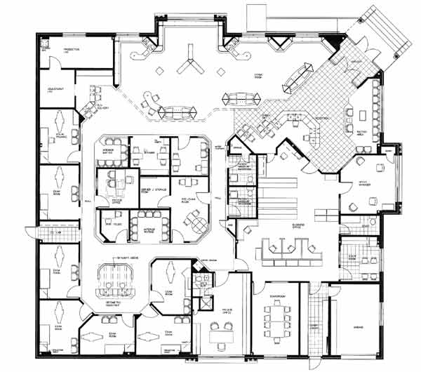 Optometry office floor plans meze blog for Site office design