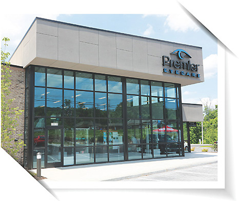 1 Dr. Fry's practice, Premier Eyecare, in its new home. 