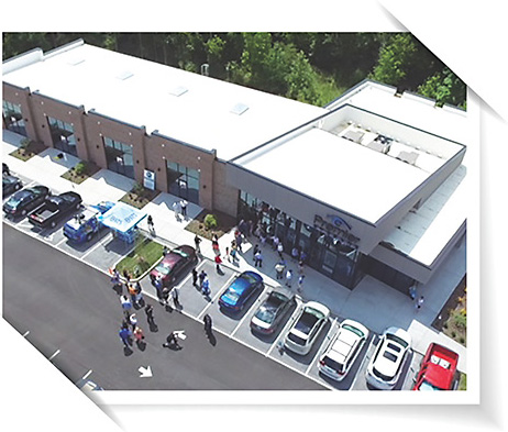 2 Aerial view  of the 10,000 sq. ft. office Dr. Fry built with the help of two investors. 