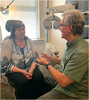 Be sensitive when discussing refractive changes.