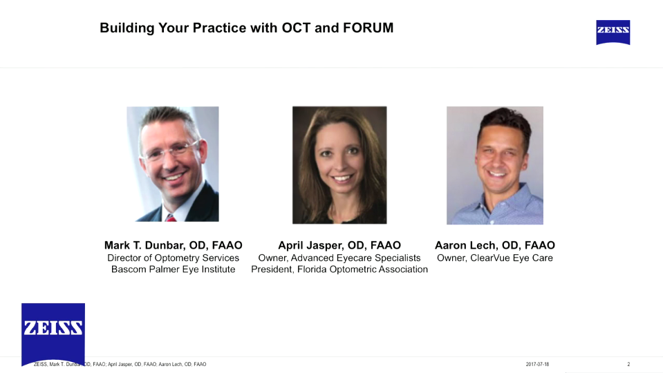 Building Your Practice with OCT and FORUM