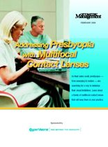 Addressing Presbyopia with Multifocal Contact Lenses