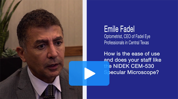 Doctors discuss their experience with the CEM-530 Specular Microscope